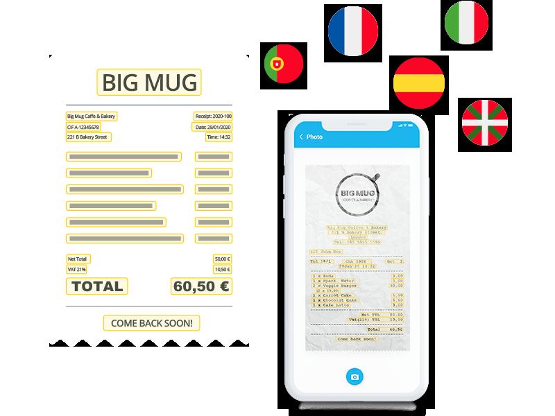 Digitalización y OCR gastos y viajes Ficufy